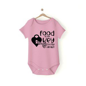 Food is the Key to my Heart Baby Onesie